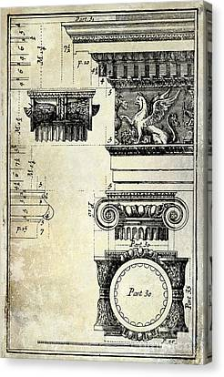Ionic Capitol Canvas Print by Jon Neidert