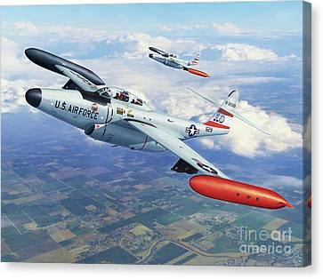 Iowa Ang F-89j Scorpion Canvas Print by Stu Shepherd