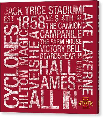 Iowa State College Colors Subway Art Canvas Print by Replay Photos