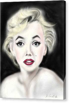 iPad Portrait Marilyn Canvas Print by Yoshiyuki Uchida