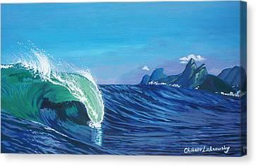 Ipanema Beach Canvas Print by Chikako Hashimoto Lichnowsky