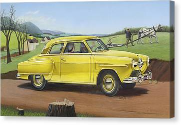 iPhone - Galaxy Case - 1950 Studebaker Champion antique americana Canvas Print by Walt Curlee