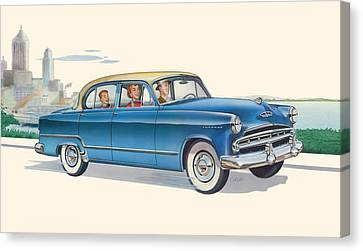 iPhone - Galaxy Case - 1953 Dodge Coronet antique car - nostagic americana Canvas Print by Walt Curlee