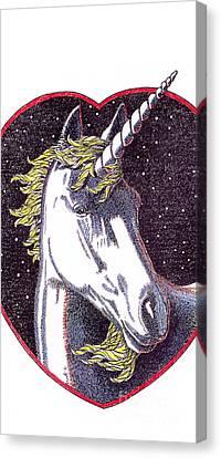 iPhone-Case-Unicorn-2 Canvas Print by Gordon Punt
