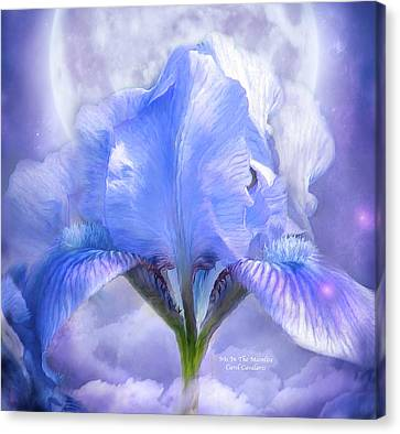 Iris - Goddess In The Moonlite Canvas Print by Carol Cavalaris