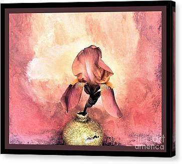 Iris On Fire Canvas Print by Marsha Heiken