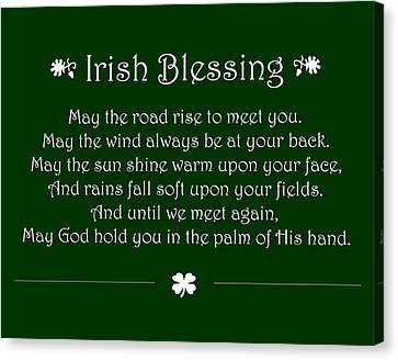 Irish Blessing Canvas Print by Jaime Friedman