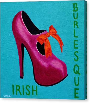 Irish Burlesque Shoe    Canvas Print by John  Nolan