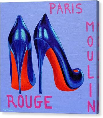 Irish Burlesque Shoes Canvas Print by John  Nolan