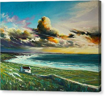 Irish Coastline Canvas Print by Roman Burgan