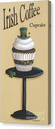 Irish Coffee Cupcake Canvas Print by Catherine Holman