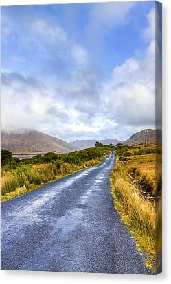 Irish Countryside Of Connemara Canvas Print by Mark Tisdale