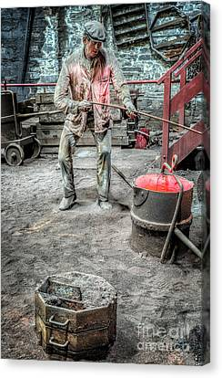 Iron And Brass Foundry Canvas Print by Adrian Evans