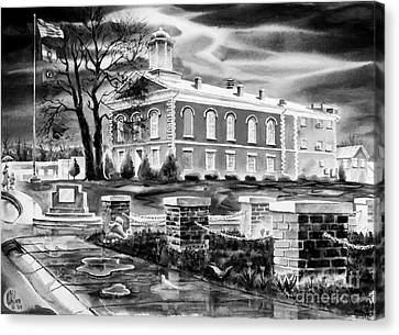 Iron County Courthouse IIi - Bw Canvas Print by Kip DeVore