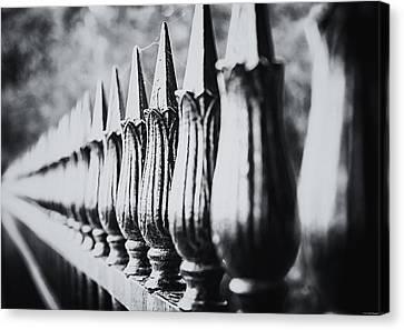 Iron Fence Canvas Print by Ryan Wyckoff