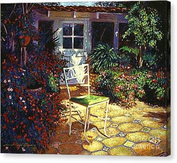 Iron Patio Chair Canvas Print by David Lloyd Glover