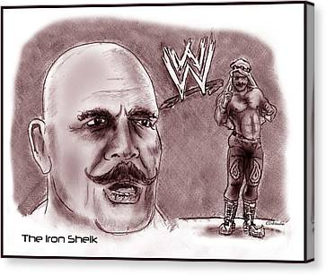 Iron Sheik Canvas Print by Chris  DelVecchio