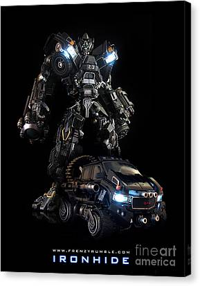 Ironhide Canvas Print by Frenzyrumble