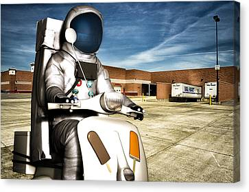 Astronaut Selling Creamsicles Canvas Print by Bob Orsillo