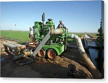 Irrigation Pump Canvas Print by Jim West