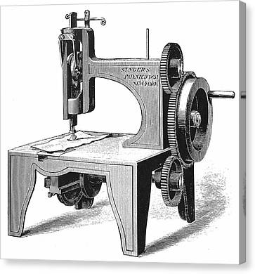 Isaac Singer's First Sewing Machine Canvas Print by Universal History Archive/uig