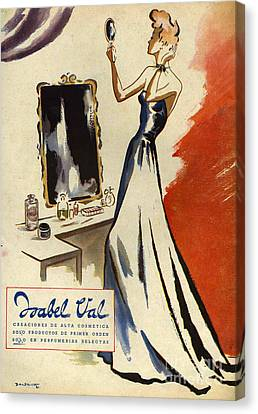 Isabel Val 1942 1940s Spain Cc Mirrors Canvas Print by The Advertising Archives