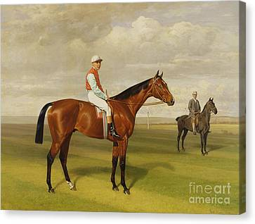 Isinglass Winner Of The 1893 Derby Canvas Print by Emil Adam