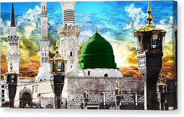 Islamic Painting 004 Canvas Print by Catf