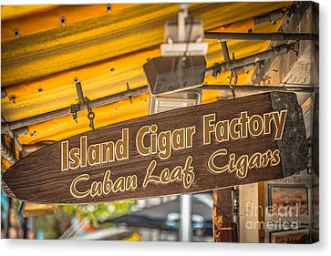 Island Cigar Factory Key West - Hdr Style Canvas Print by Ian Monk