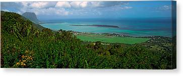 Island In The Indian Ocean, Mauritius Canvas Print by Panoramic Images