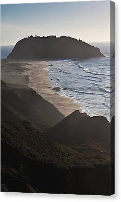 Island In The Pacific Ocean, Point Sur Canvas Print by Panoramic Images