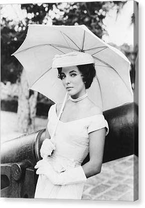 Island In The Sun, Joan Collins, 1957 Canvas Print by Everett
