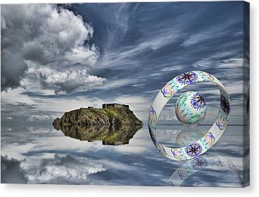 Island Ring And Sphere Canvas Print by Steve Purnell
