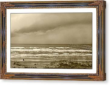 Island Storm Canvas Print by Betsy Knapp