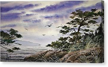 Island Sunset Canvas Print by James Williamson