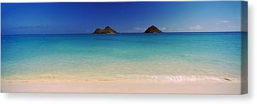 Islands In The Pacific Ocean, Lanikai Canvas Print by Panoramic Images