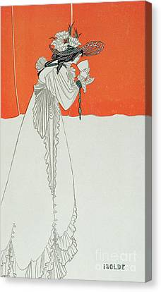 Isolde Drinking The Poison Canvas Print by Aubrey Beardsley