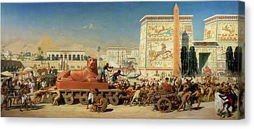 Israel In Egypt, 1867 Canvas Print by Sir Edward John Poynter