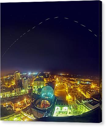 Iss Trail Over The Dali Museum Canvas Print by Juan Carlos Casado (starryearth.com)