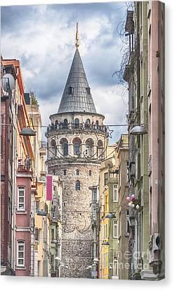 Istanbul Galata Tower Canvas Print by Antony McAulay