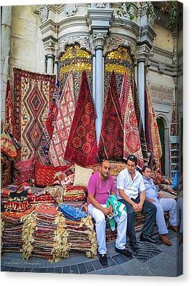 Istanbul Rug Merchants Canvas Print by Ross Henton