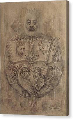 It Is Devoted To Great Paradzhanov Canvas Print by Meruzhan Khachatryan
