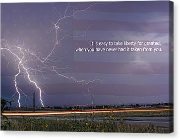 It Is Easy To Take Liberty For Granted Canvas Print by James BO  Insogna
