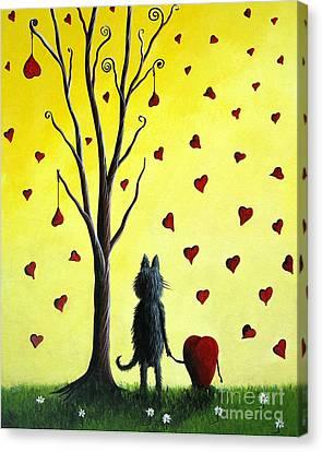 It Must Be Love By Shawna Erback Canvas Print by Shawna Erback