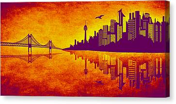 It Was Us That Scorched The Sky Canvas Print by Angelina Vick