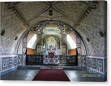 Italian Chapel Mural Lamb Holm Orkney Canvas Print by Tim Gainey