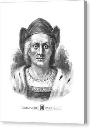 Italian Explorer Christopher Columbus Canvas Print by War Is Hell Store