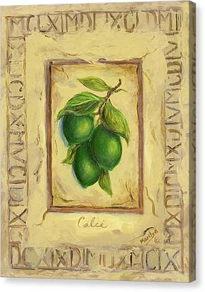 Italian Fruit Limes Canvas Print by Marilyn Dunlap
