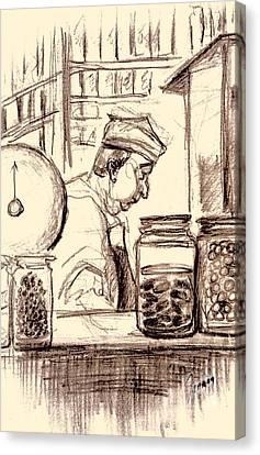 Italian Market Canvas Print by Mary Fanning