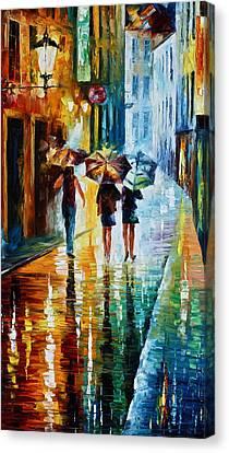 Italian Rain Canvas Print by Leonid Afremov